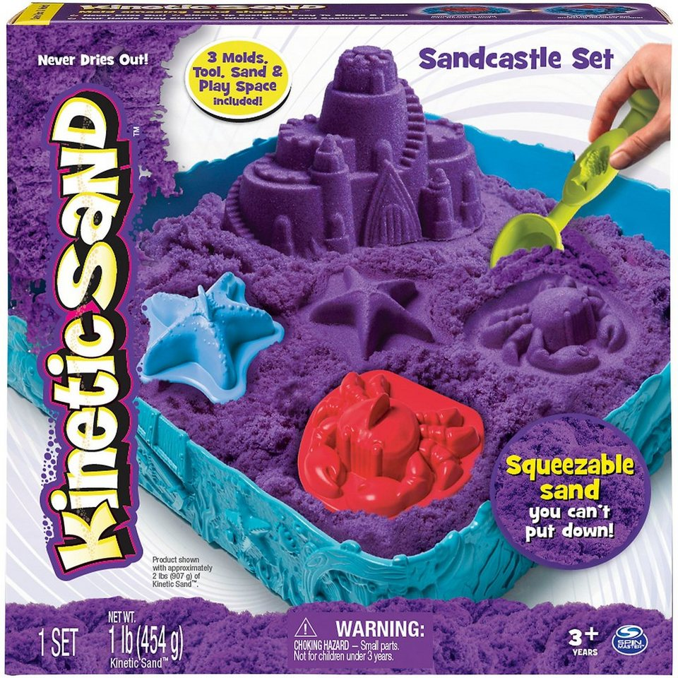 Spin Master Kinetic Sand Box Set, lila