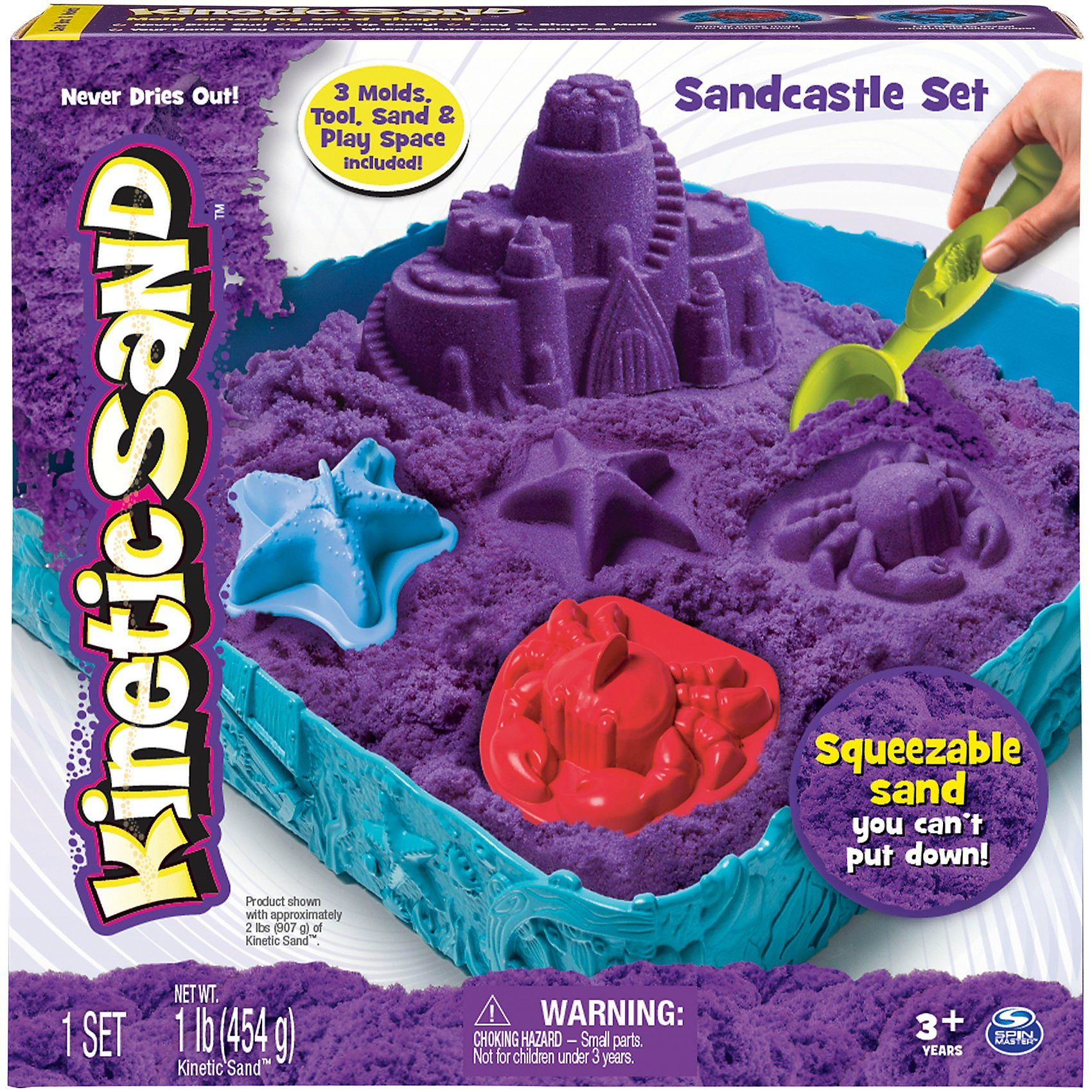 Spin Master Kinetic Sand Box Set, lila