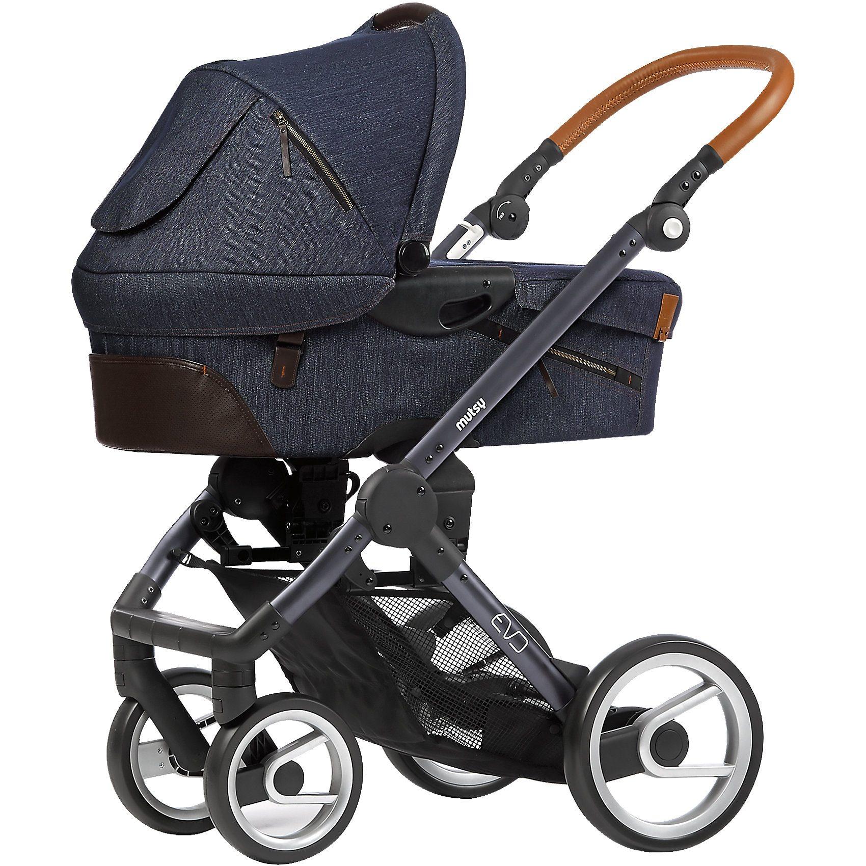 mutsy Kombi-Kinderwagen Evo industrial, indigo, Gestell darkgrey,