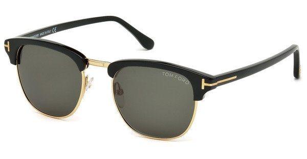 Tom Ford Herren Sonnenbrille »Henry FT0248« in 05N - schwarz/grün