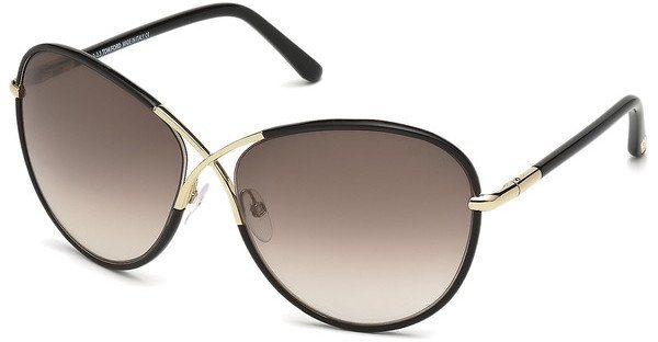 Tom Ford Damen Sonnenbrille »Rosie FT0344« in 01B - schwarz/grau