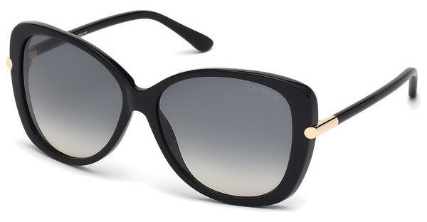 Tom Ford Damen Sonnenbrille »Linda FT0324« in 01B - schwarz/grau
