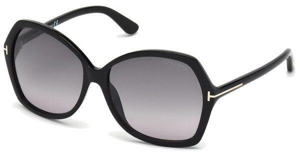 Tom Ford Damen Sonnenbrille »Carola FT0328«, schwarz, 01B - schwarz/grau