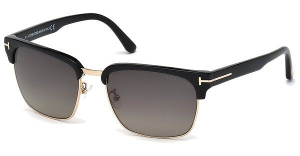 Tom Ford Herren Sonnenbrille »River FT0367« in 01D - schwarz/grau
