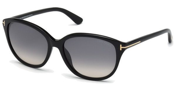 Tom Ford Damen Sonnenbrille »Karmen FT0329« in 01B - schwarz/grau