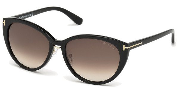 Tom Ford Damen Sonnenbrille »Gina FT0345« in 01B - schwarz/grau
