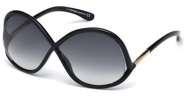 Tom Ford Damen Sonnenbrille »Ivanna FT0372« in 01B - schwarz/grau
