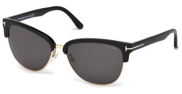Tom Ford Damen Sonnenbrille »Fany FT0368« in 01A - schwarz/grau