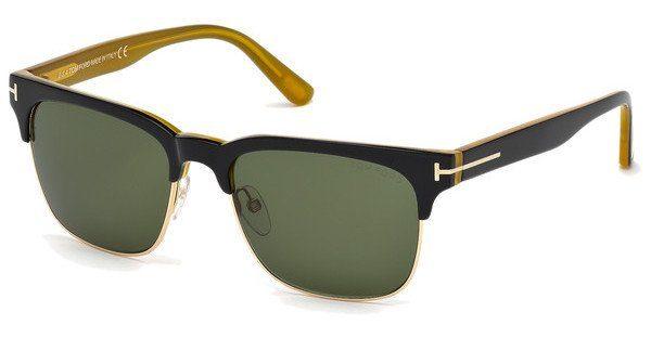 Tom Ford Herren Sonnenbrille »Louis FT0386«, schwarz, 05N - schwarz/grün