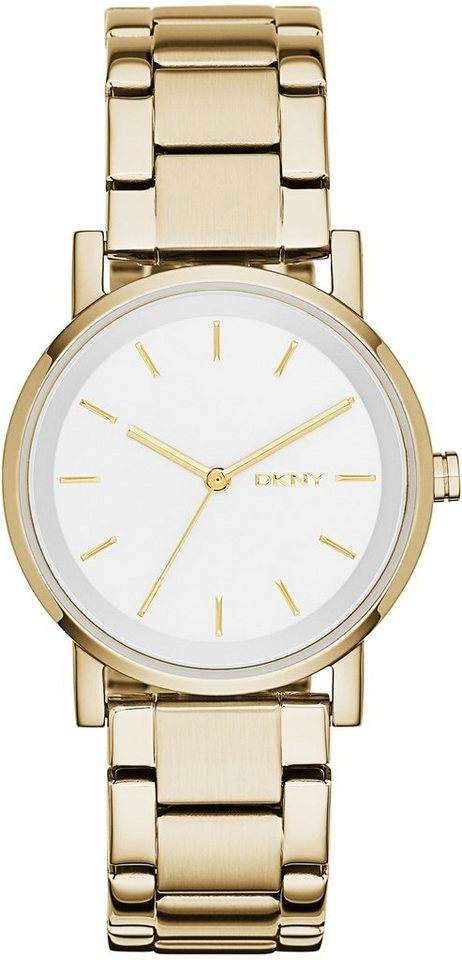 DKNY Quarzuhr »SOHO, NY2343« in goldfarben