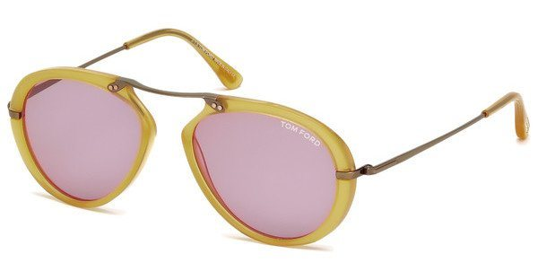 Tom Ford Herren Sonnenbrille »Aaron FT0473« in 39Y - gelb/lila