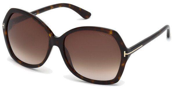 Tom Ford Damen Sonnenbrille »Brenda FT0455«, braun, 52F - braun/braun