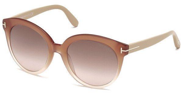 Tom Ford Damen Sonnenbrille »Monica FT0429« in 74F - rosa/braun