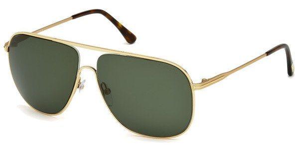 Tom Ford Herren Sonnenbrille »Dominic FT0451« in 28N - gold/grün
