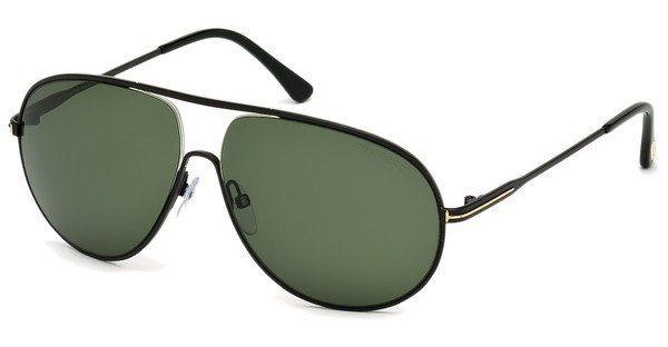 Tom Ford Herren Sonnenbrille »Cliff FT0450« in 02N - schwarz/grün