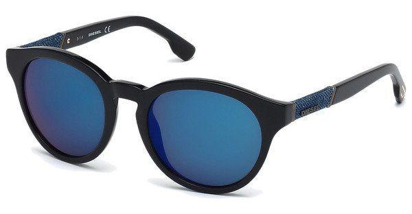 Diesel Sonnenbrille » DL0115« in 01X - schwarz/blau