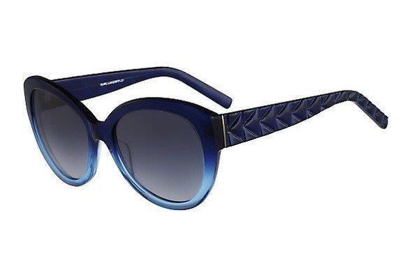 KARL LAGERFELD Damen Sonnenbrille » KL867S« in 146 - Gradient blau