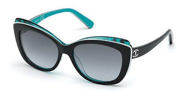 Just Cavalli Damen Sonnenbrille » JC565S« in 05B - schwarz/grau