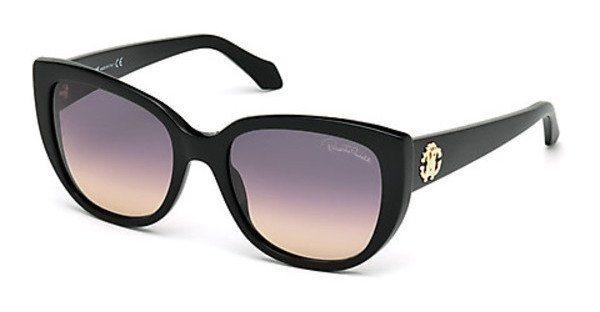 Roberto Cavalli Damen Sonnenbrille » RC990S« in 01B - schwarz/grau