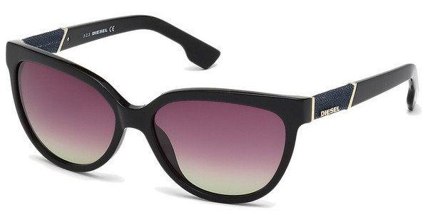 Diesel Damen Sonnenbrille » DL0102« in 01F - schwarz/braun