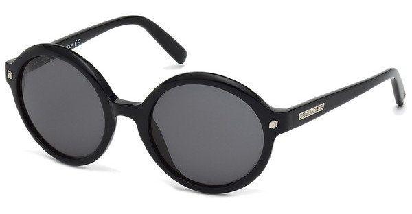 Dsquared² Damen Sonnenbrille » DQ0130« in 01A - schwarz/grau