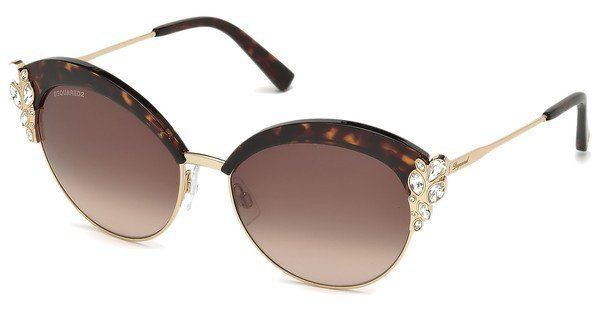 Dsquared² Damen Sonnenbrille » DQ0199« in 52F - braun/braun