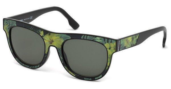 Diesel Sonnenbrille » DL0160« in 95N - grün/grün