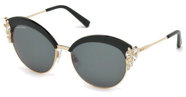 Dsquared² Damen Sonnenbrille » DQ0199« in 01A - schwarz/grau