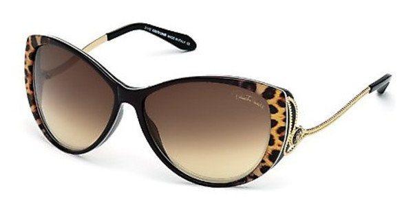 Roberto Cavalli Damen Sonnenbrille » RC741S« in 05G - schwarz/braun