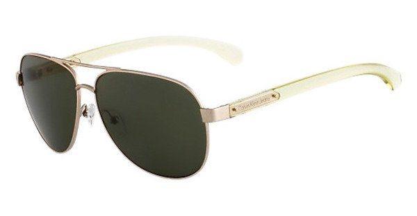 Calvin Klein Sonnenbrille » CKJ445S« in 304 - gold/grün