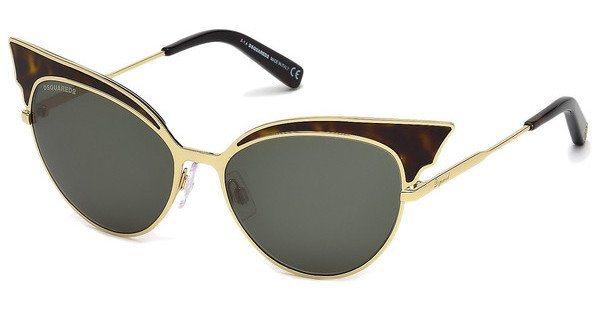 Dsquared² Damen Sonnenbrille » DQ0166« in 52N - braun/grün