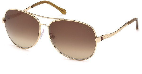 Roberto Cavalli Damen Sonnenbrille » RC792S« in 28F - gold/braun