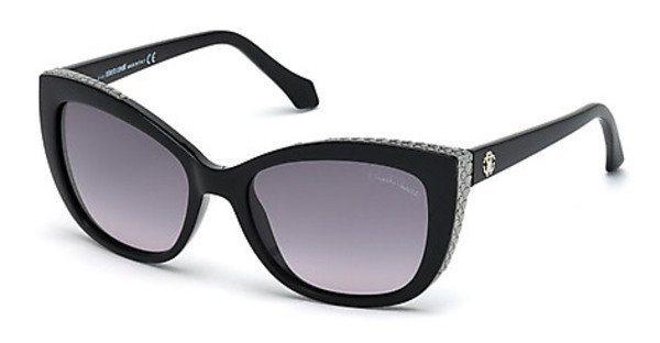 Roberto Cavalli Damen Sonnenbrille » RC888S« in 05B - schwarz/grau