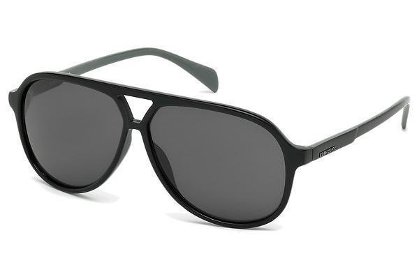 Diesel Herren Sonnenbrille » DL0156« in 01Q - schwarz/grün