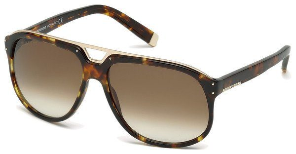 Dsquared2 Herren Sonnenbrille » DQ0005«, schwarz, 01A - schwarz/grau