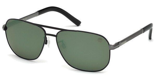 Timberland Herren Sonnenbrille » TB9071« in 02R - schwarz/grün