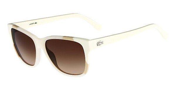 Lacoste Damen Sonnenbrille » L775S« in 105 - weiß/braun