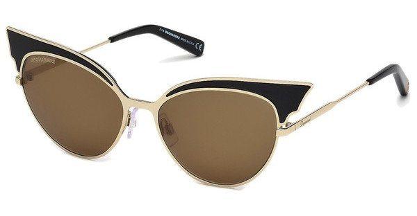 Dsquared² Damen Sonnenbrille » DQ0166« in 01J - schwarz/braun