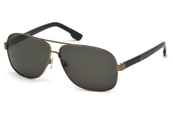 Diesel Herren Sonnenbrille » DL0125« in 33N - gold/grün