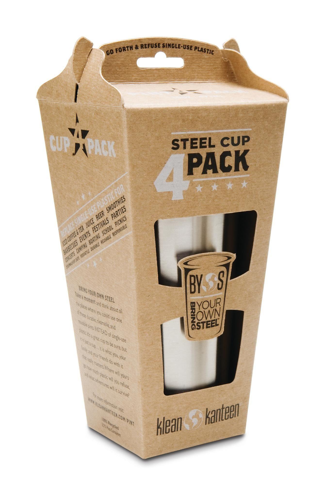 Klean Kanteen Trinkflasche »Steel Cup 295ml 4er Pack«