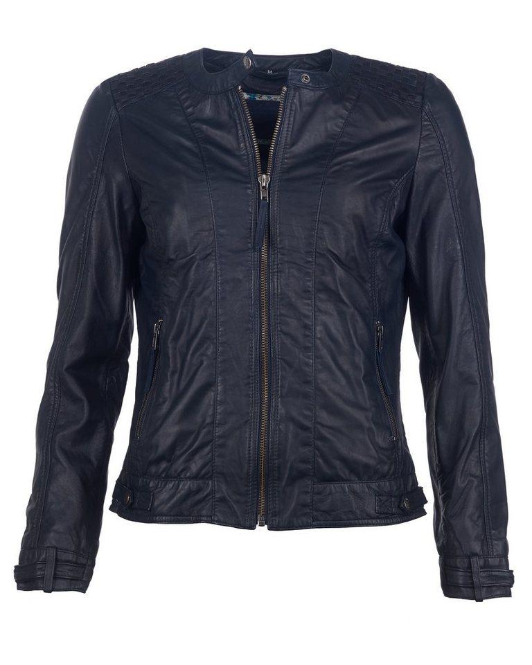Mustang Lederjacke, Damen Ducie in dark blue