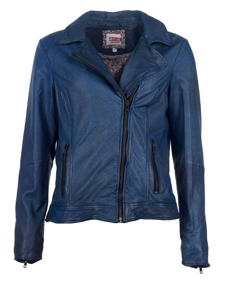 Mustang Lederjacke, Damen Bailly in blau
