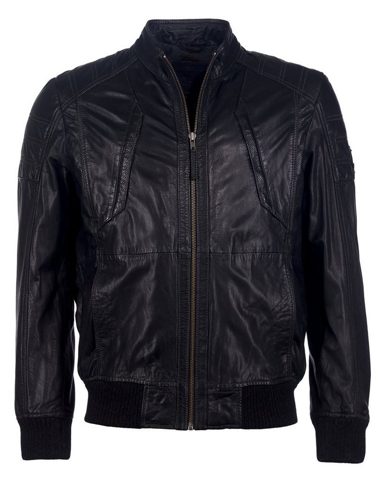 Mustang Lederblouson, Herren Preston-B in black