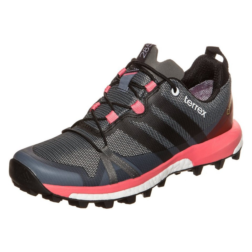 adidas Performance Terrex Agravic GTX Trail Laufschuh Damen in anthrazit / rosa