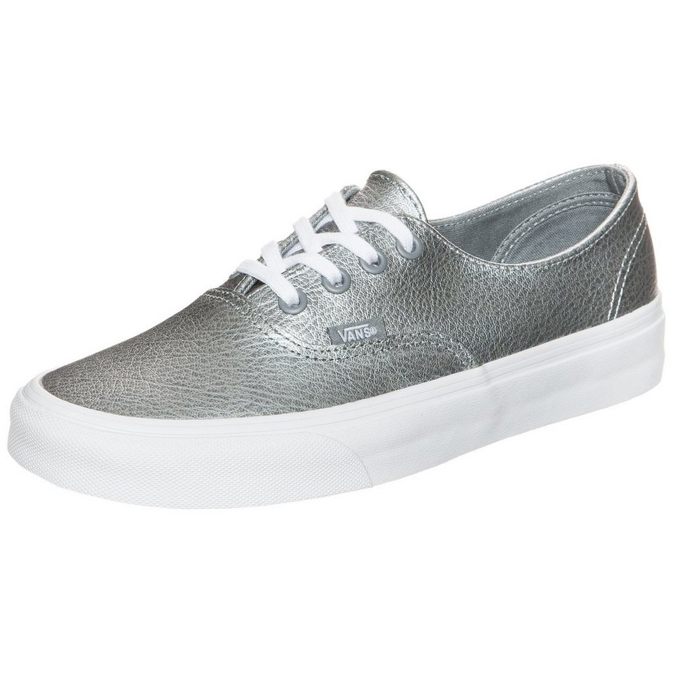 VANS Authentic Decon Premium Leather Sneaker in silber