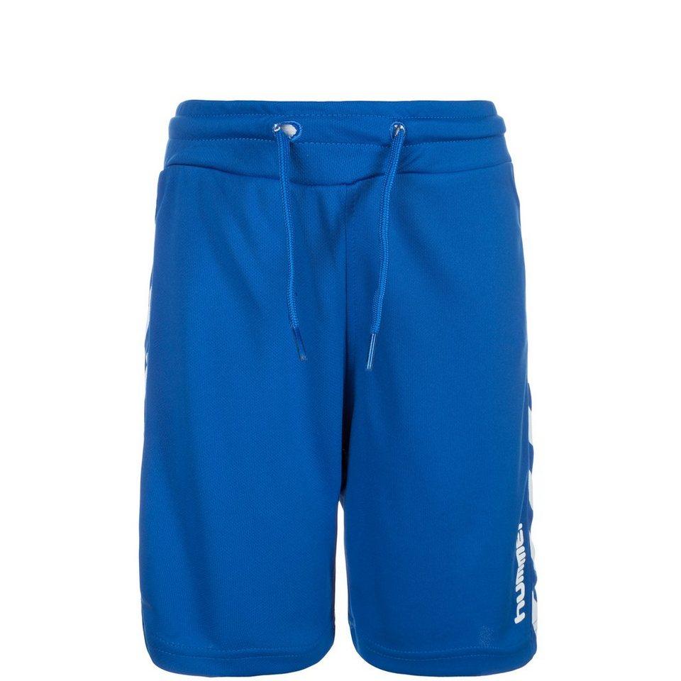 HUMMEL TEAMSPORT Astor Short Kinder in blau / weiß