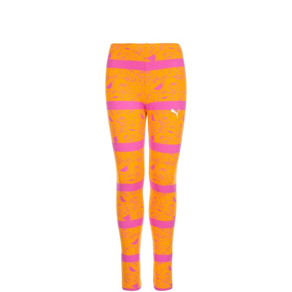 PUMA Sesamstraße Legging Kinder in orange / pink