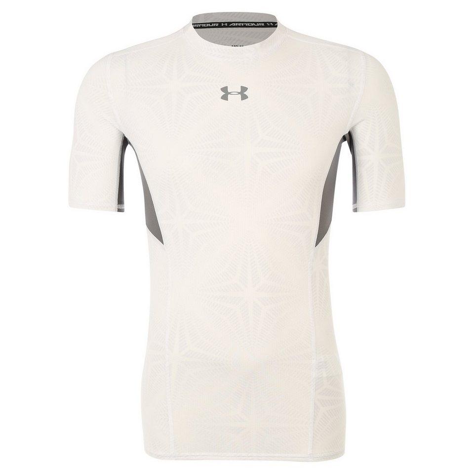 Under Armour® HeatGear CoolSwitch Compression Trainingsshirt Herren in weiß / grau