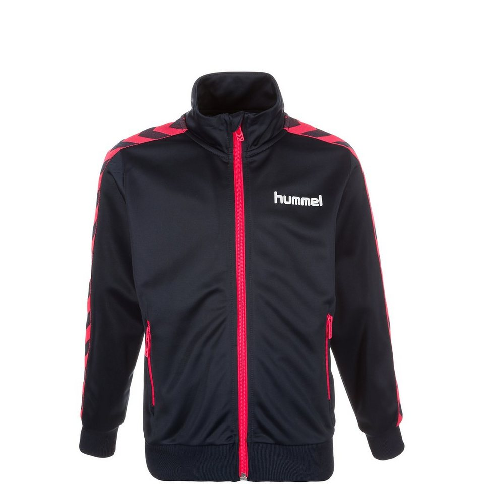 HUMMEL TEAMSPORT Marcel Trainingsjacke Kinder in dunkelblau / rosa