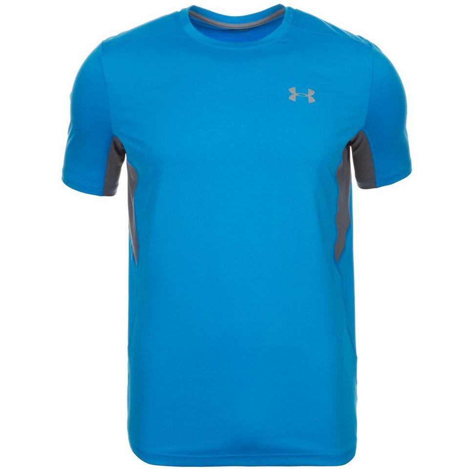 Under Armour® HeatGear CoolSwitch Run Laufshirt Herren in blau / grau